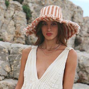 Free People Seaside Stripe Oversized Floppy Hat
